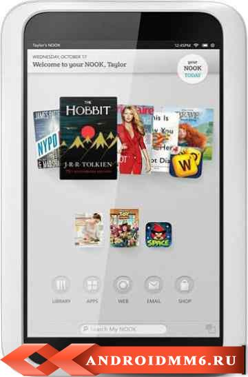 Планшет Barnes & Noble NOOK HD Snow 16GB